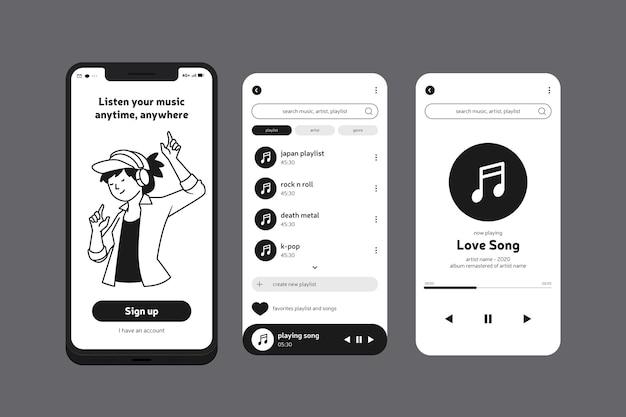 Aplicación de música para teléfono móvil