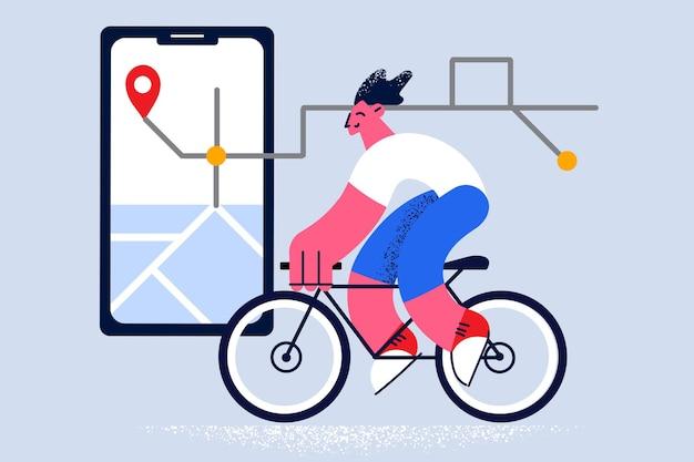 Aplicación de navegación con concepto de pin de ubicación