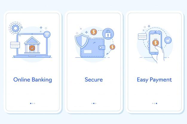Aplicación de pagos en línea para aplicaciones móviles.