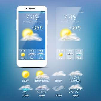 Aplicación de pronóstico del tiempo