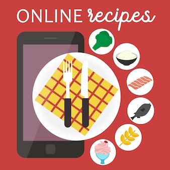 Aplicación de recetas de cocina online.