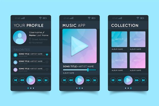 Aplicación de reproductor de música para canciones y artistas