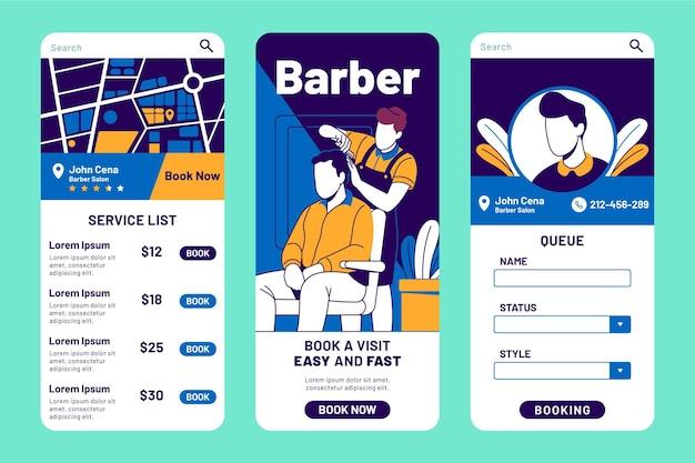 Aplicación de reserva de peluquería