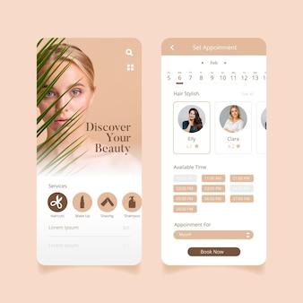Aplicación de reserva de salón de belleza