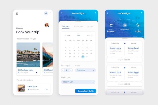 Aplicación de reserva de viajes