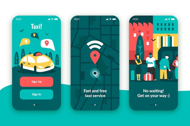 Aplicación de servicio de taxi para dispositivos móviles