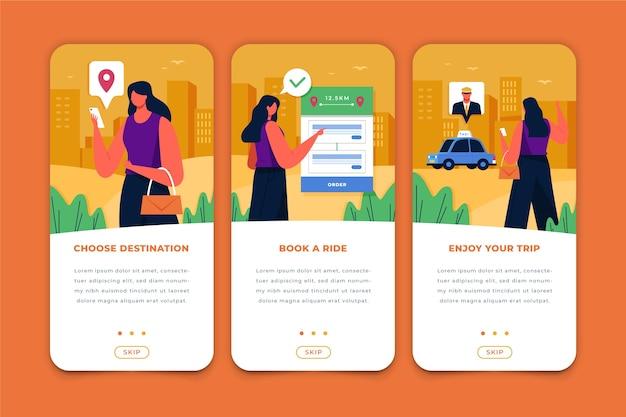 Aplicación de servicio de taxi para teléfono móvil