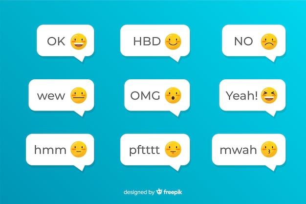 Aplicación social para enviar mensajes de texto con emojis