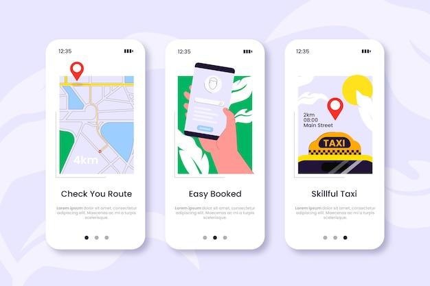 Aplicación de telefonía móvil servicio de taxi
