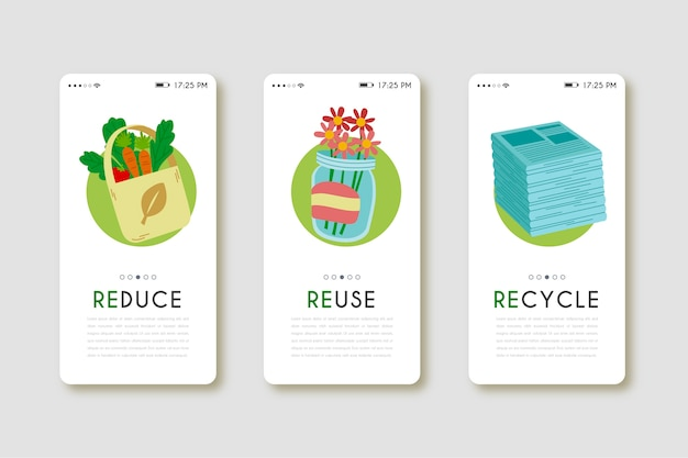 Aplicación de teléfono móvil para productos reutilizados