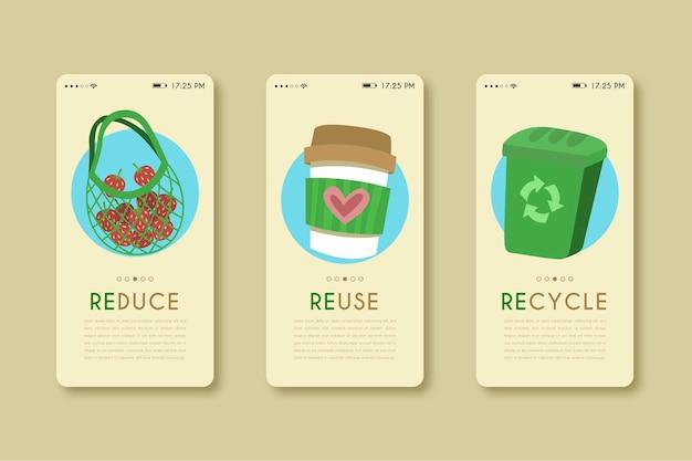 Aplicación de teléfono móvil para reciclar