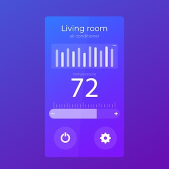 Aplicación de termostato diseño de interfaz de usuario móvil