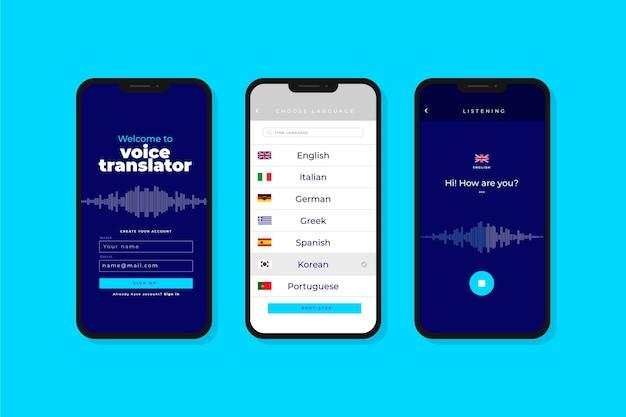 Aplicación de traductor de voz