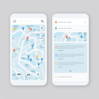 Aplicación de transporte público en teléfonos inteligentes.