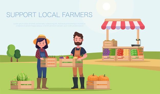 Apoyar el concepto de agricultores locales