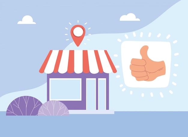 Apoyar a las empresas locales y sus ventas