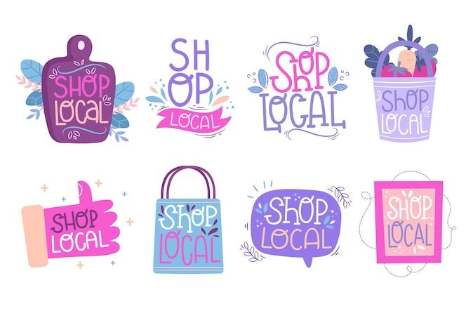 Apoye la colección de letras de negocios locales