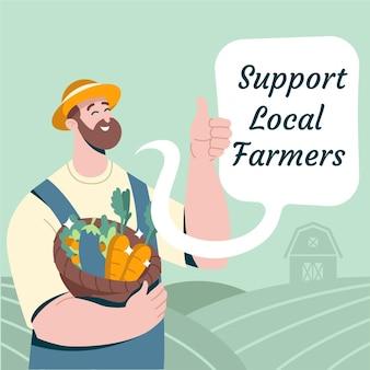 Apoye el concepto de agricultores locales