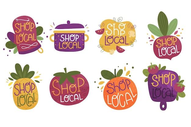 Apoye el concepto de letras de negocios locales