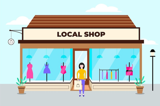 Apoye el concepto de negocio local