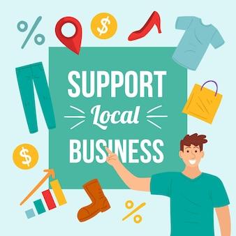 Apoye el mensaje del negocio local