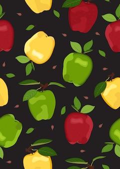 Apple colorido de patrones sin fisuras