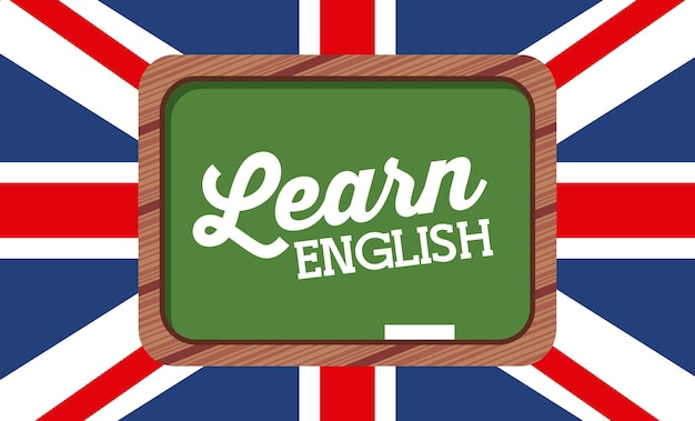 Aprender diseño inglés, ilustración vectorial gráfico eps10