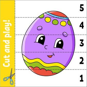 Aprendiendo números. corta y juega. hoja de trabajo de educación. juego para niños. página de actividad de color. puzzle para niños.