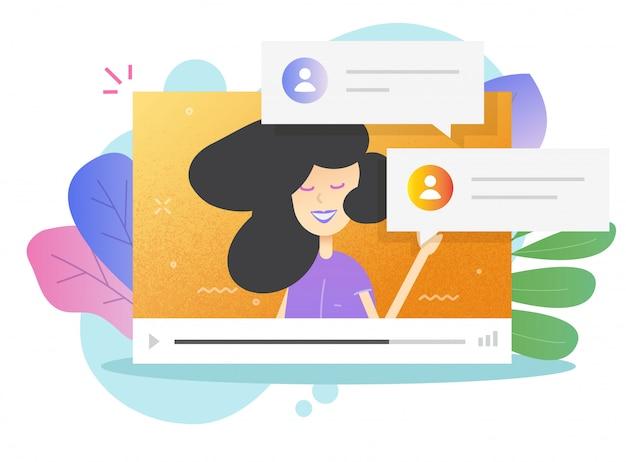 Aprendizaje a distancia video internet llamada en línea vector o persona personaje estudio en webinar web