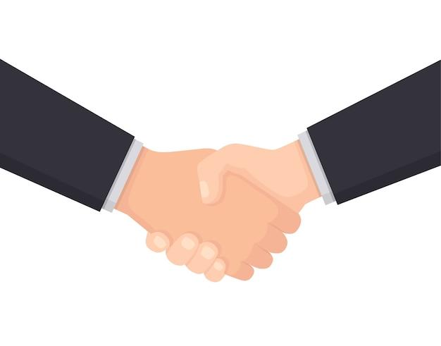 Apretón de manos empresarial para informes y presentaciones