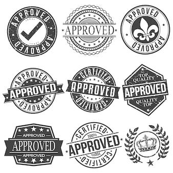 Aprobado certificado de garantía de calidad superior sello diseño retro