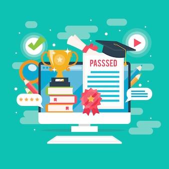 Aprobó todos los exámenes de certificación en línea