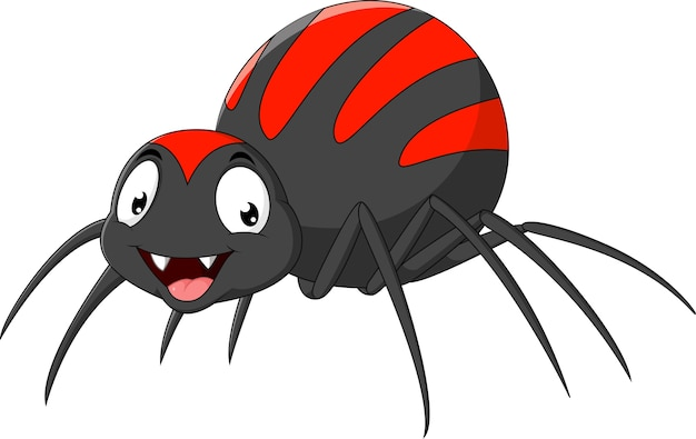 Araña divertida de dibujos animados