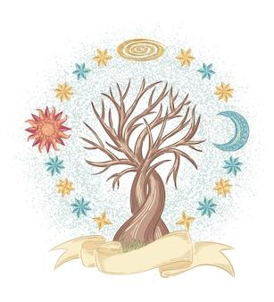 Árbol de cielo mágico