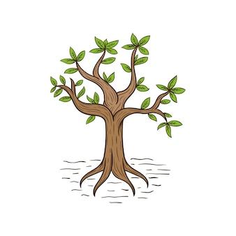 árbol dibujado a mano