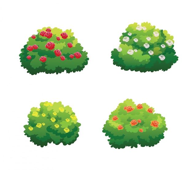 Árbol para dibujos animados aislado sobre fondo blanco