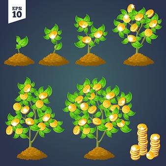 Árbol de dinero de crecimiento para juegos.