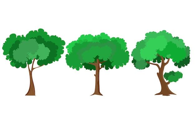 Árbol de diseño plano vectorial