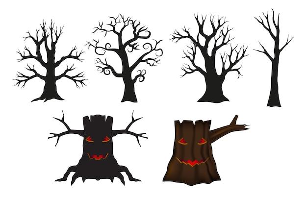 Árbol establecido para el objeto día de halloween