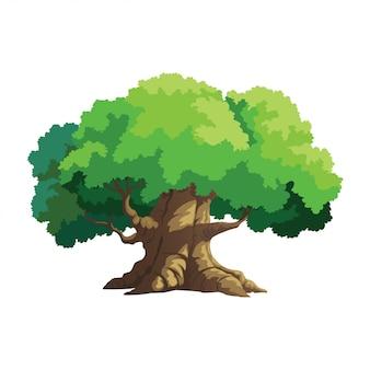 Árbol de ilustración para dibujos animados