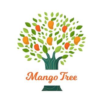 Árbol de mango de diseño plano