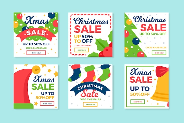 Árbol de navidad y accesorios instagram social media post