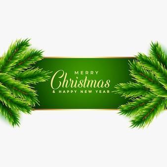 árbol de navidad deja diseño de fondo
