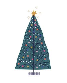 Árbol de navidad dibujado a mano