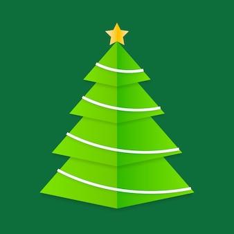 Árbol de navidad estilo papel