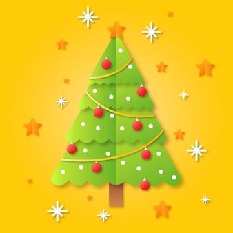Árbol de navidad en estilo papel