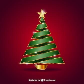 Árbol de navidad con la estrella dorada