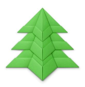 Árbol de navidad hecho de papel doblado