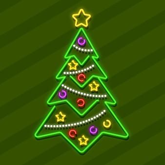 Árbol de navidad de neón