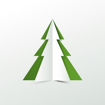 Árbol de navidad en papel